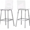 Acrylic Swivel Bar Stool
