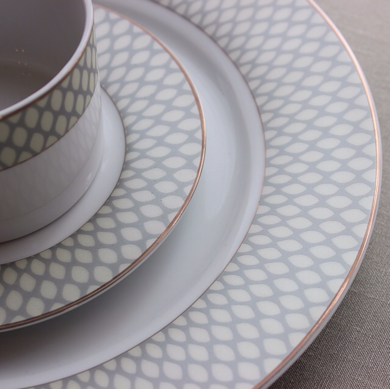 Grey Honeycomb & China - Be Our Guest