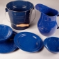 Enamelware Spackle Blue
