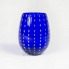 Cobalt Blue Dot Stemless