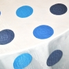 Blue Carnival Dot Sheer