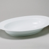 White Oval Bowl
